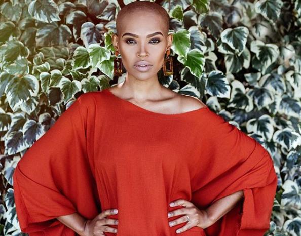 Gail Mabalane goes bald