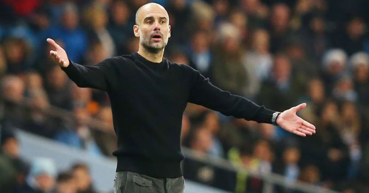 Pep Guardiola believes Manchester City is now struggling