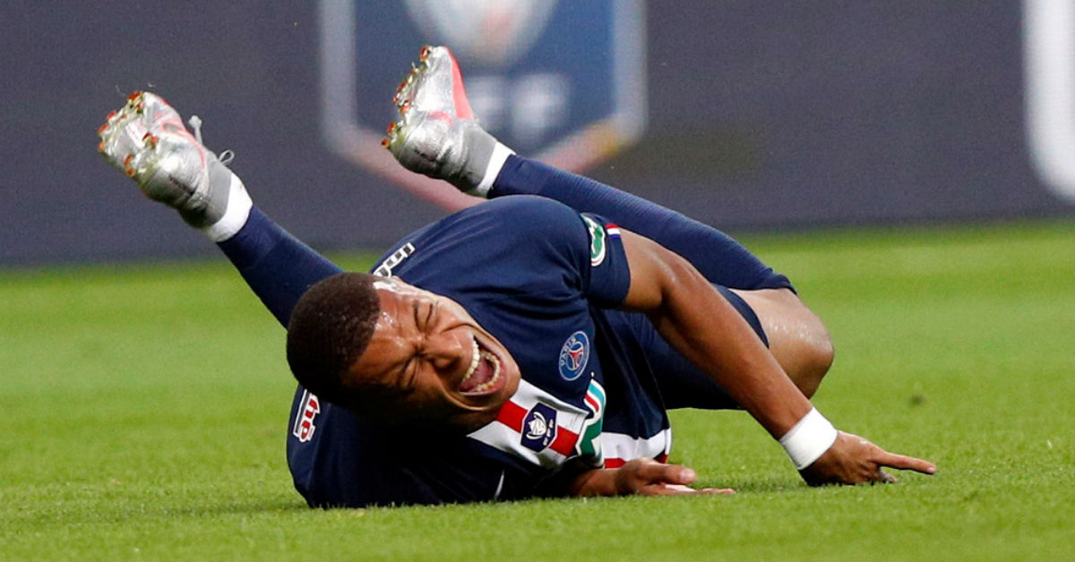 Kylian Mbappe suffered a serious ankle injury