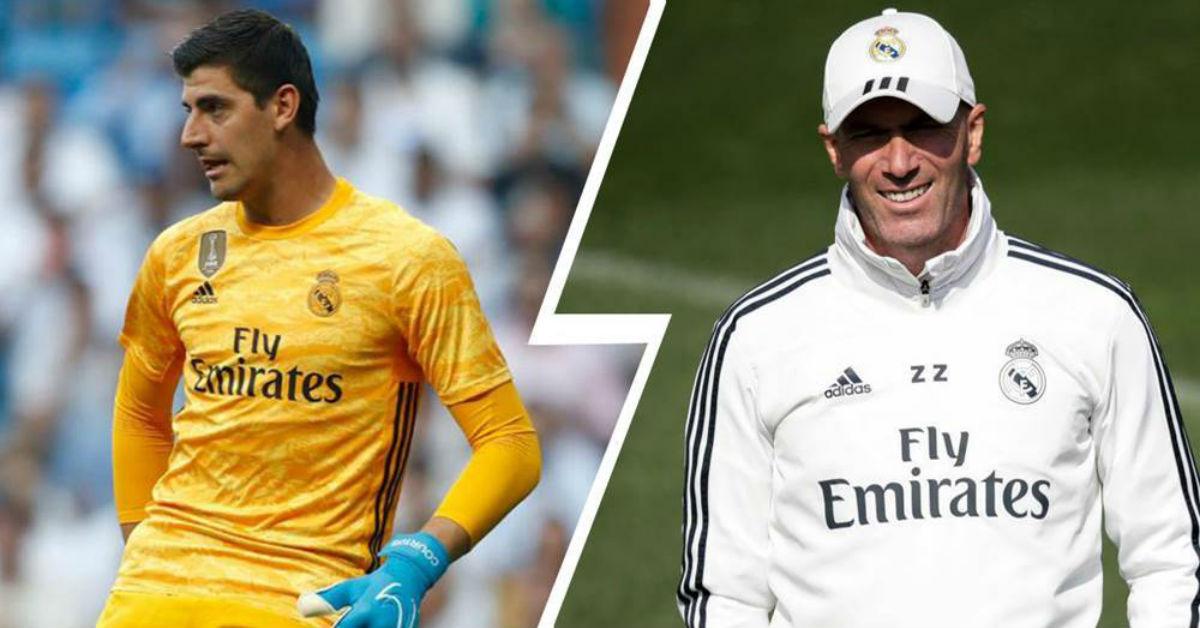 Zinedine Zidane praises Thibaut Courtois