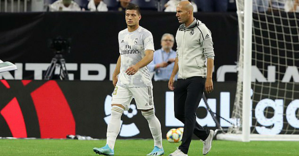 Zinedine Zidane denies his reported problem with Real Madrid star Luka Jovic