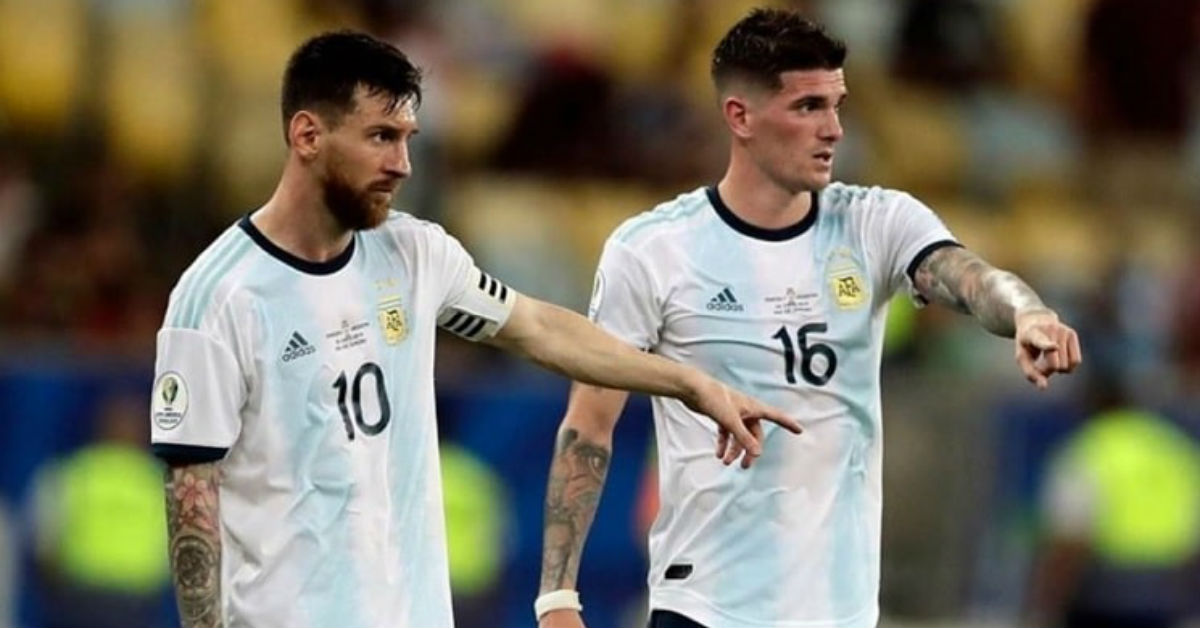 Argentine footballer Rodrigo De Paul praises the inspirational leadership of Lionel Messi