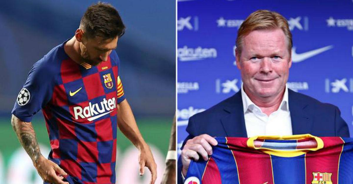 Barcelona manager Ronald Koeman believes Lionel Messi is still the best footballer