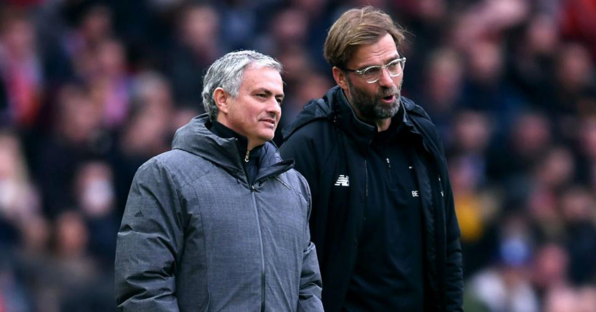 Jose Mourinho believes he would have been sent off if he behaved like Jurgen Klopp on the touchline
