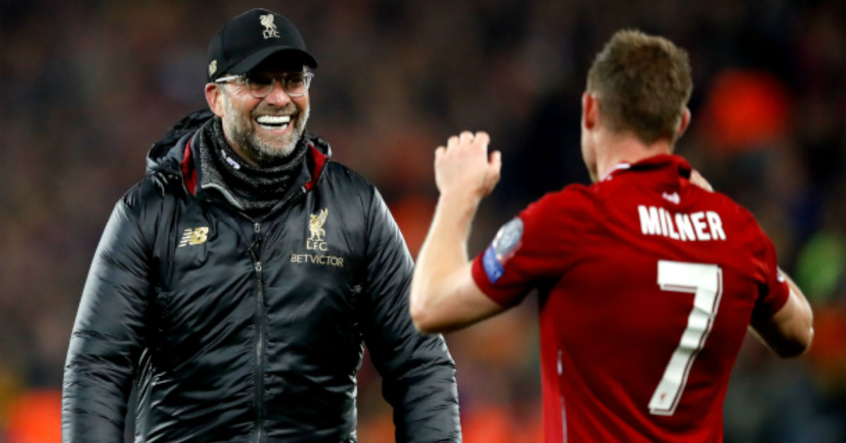 Jurgen Klopp believes James Milner is the Number 1 penalty taker for Liverpool